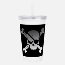 Black, gray and white Acrylic Double-wall Tumbler