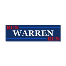 Run Warren Run Car Magnet 10 X 3