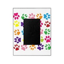 Multiple Rainbow Paw Print Design Picture Frame