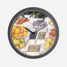 Fruit Stand by Gustave Caillebotte Wall Clock