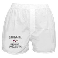 Wine Size Does Matter Boxer Shorts
