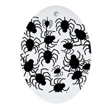 Black Spiders Ornament (Oval)