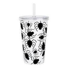 Black Spiders Acrylic Double-wall Tumbler