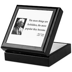Mark Twain 32 Keepsake Box