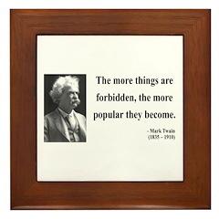 Mark Twain 32 Framed Tile