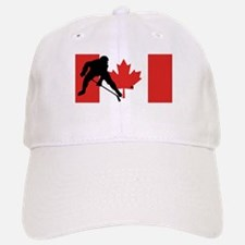 Hockey Player Canadian Flag Baseball Baseball Baseball Cap
