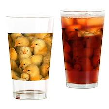 Little Yellow Chicks Drinking Glass