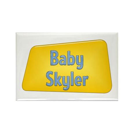 Baby Skyler Rectangle Magnet