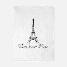 Personalizable Eiffel Tower Twin Duvet