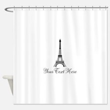 Personalizable Eiffel Tower Shower Curtain