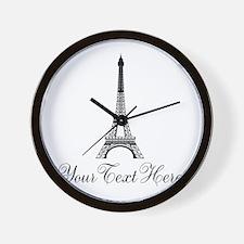 Personalizable Eiffel Tower Wall Clock