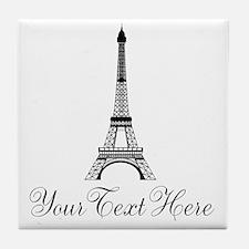 Personalizable Eiffel Tower Tile Coaster