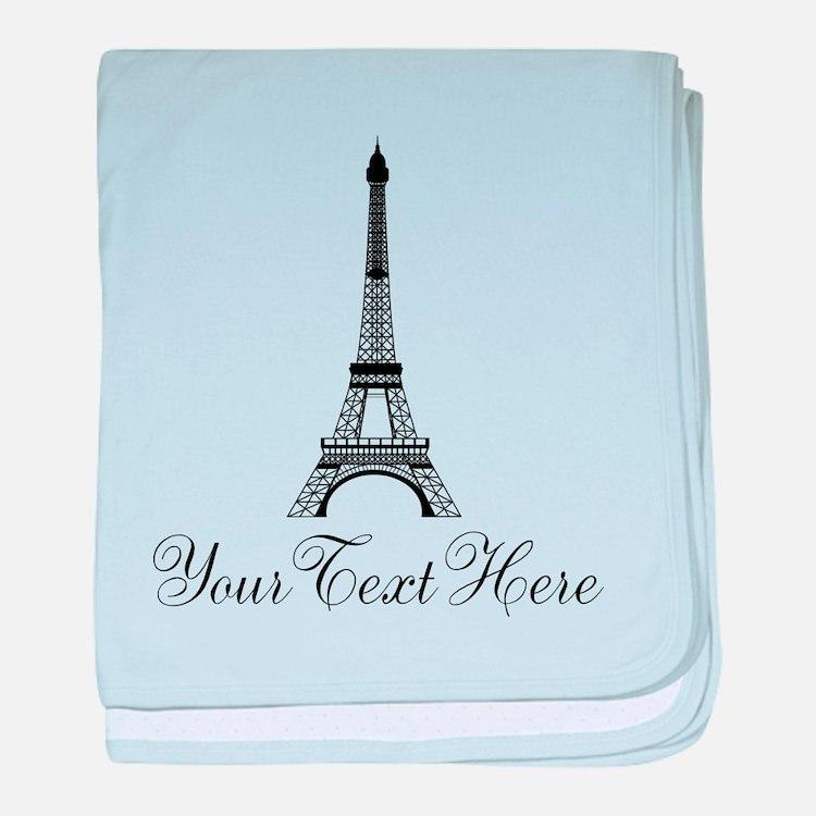 Personalizable Eiffel Tower baby blanket