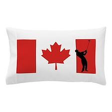 Golfer Canadian Flag Pillow Case