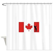 Golfer Canadian Flag Shower Curtain