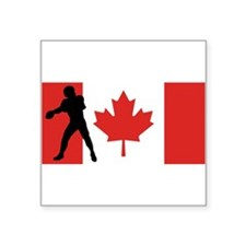 Quarterback Canadian Flag Sticker