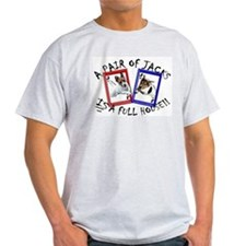 """Jack Russell """"Full House"""" Ash Grey T-Shirt"""