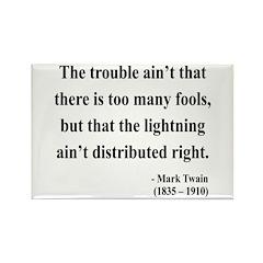 Mark Twain 33 Rectangle Magnet (10 pack)