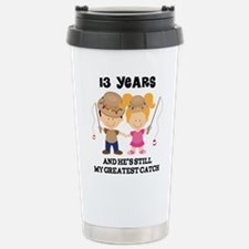 Unique 13th wedding anniversary Travel Mug