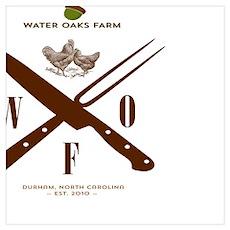 Water Oaks Farm Chicken Cooking Poster