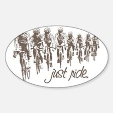 JUST RIDE CYCLING Oval Decal
