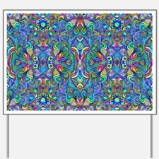 Colorful Abstract Psychedelic Symmetrica Yard Sign
