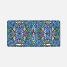 Colorful Abstract Psychedel Aluminum License Plate