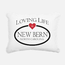 Loving Life in New Bern, Rectangular Canvas Pillow