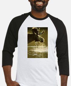 Moose Dipping His Head Into Water Baseball Jersey