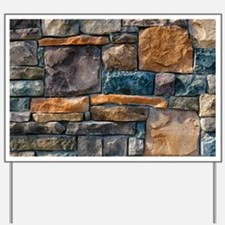 Stone Wall Yard Sign