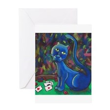 Midnight Louie Greeting Card