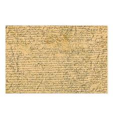 Old Manuscript Postcards (Package of 8)