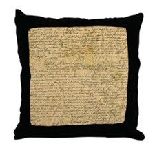 Old Manuscript Throw Pillow