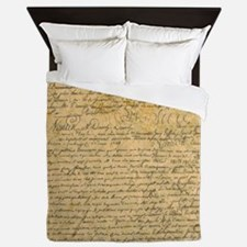 Old Manuscript Queen Duvet
