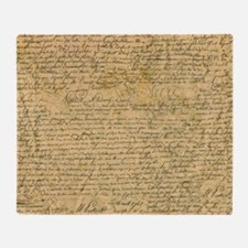 Old Manuscript Throw Blanket