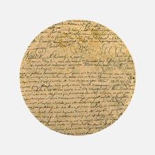 Old Manuscript Button