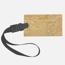 Old Manuscript Luggage Tag
