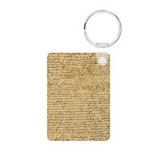 Old Manuscript Keychains