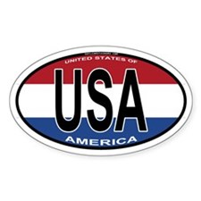 USA Colors Oval Oval Decal