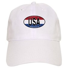 USA Colors Oval Baseball Cap
