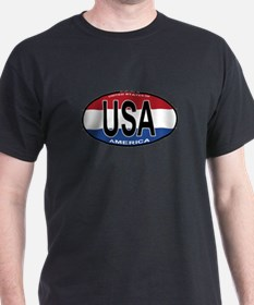 USA Colors Oval T-Shirt