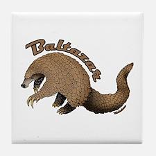 Baltazar the Pangolin Tile Coaster