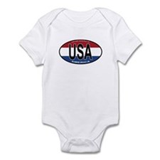USA Colors Oval Infant Bodysuit