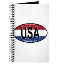 USA Colors Oval Journal