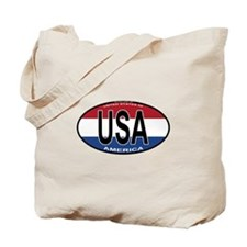 USA Colors Oval Tote Bag