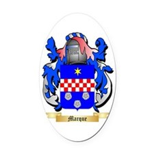Marque Oval Car Magnet