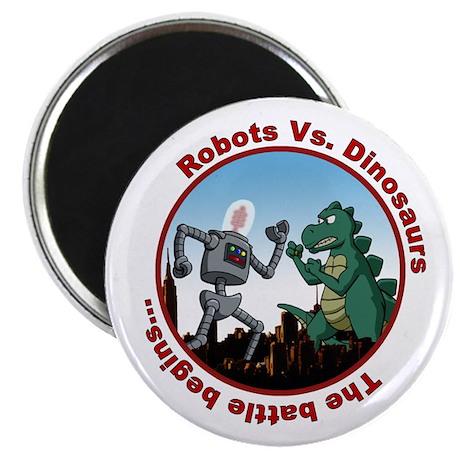 Robots vs. Dinosaurs Magnet