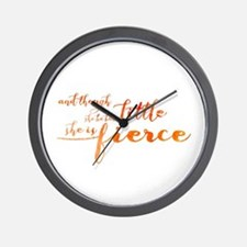 She is Fierce Wall Clock