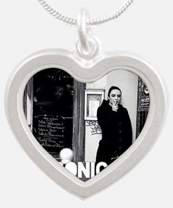 Sonic-Chaos Silver Heart Necklace