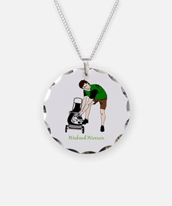 Weekend Warrior Lawn Mower Necklace